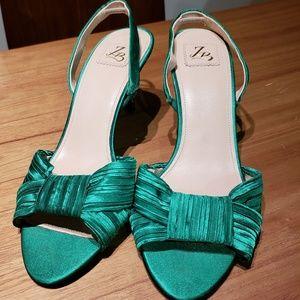 Zara Satin Slingback Heels